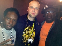 With legends Jazzy Jay and Tony Tone (Nov. 9, 2013)
